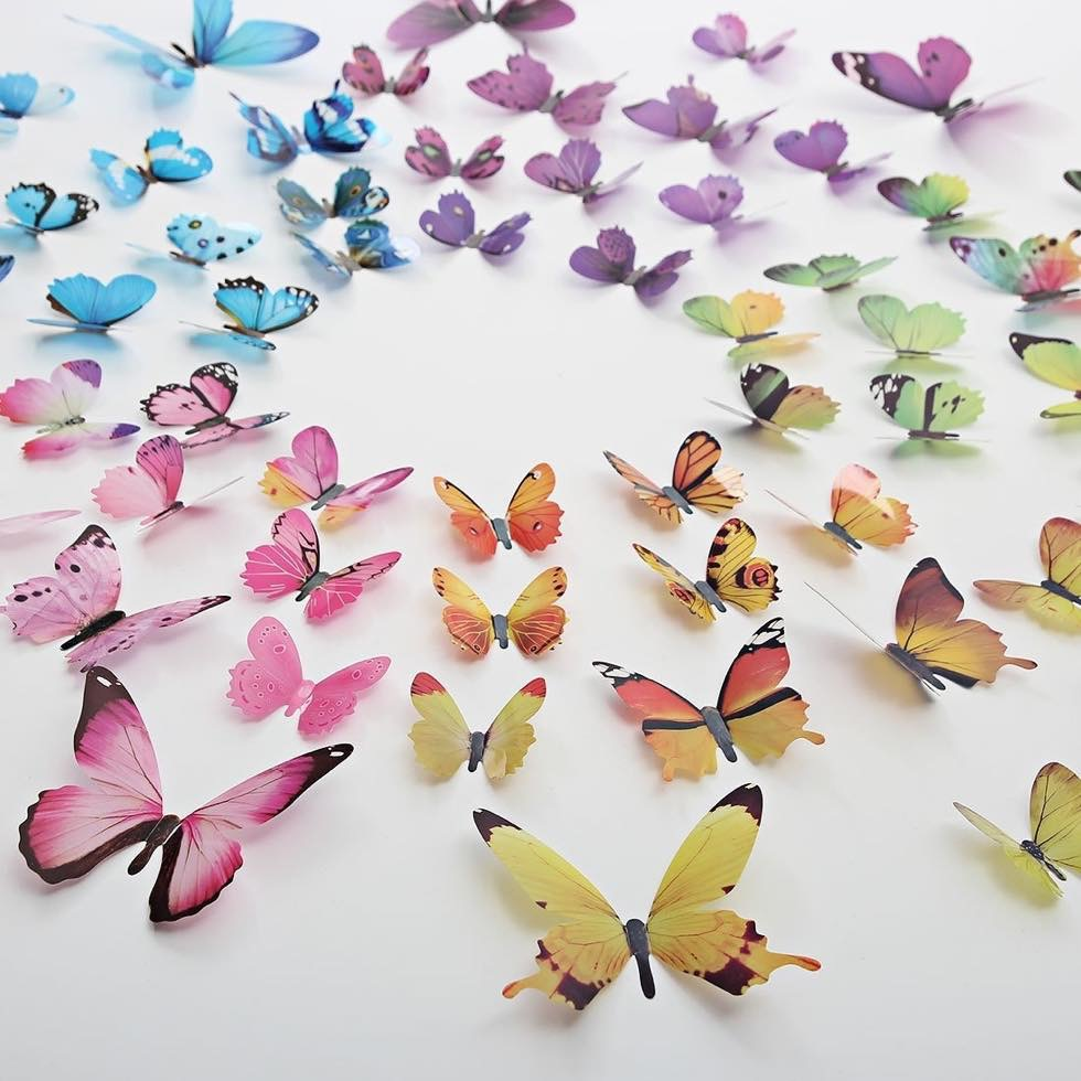 Butterfly Wall Decals サイズ・カラー